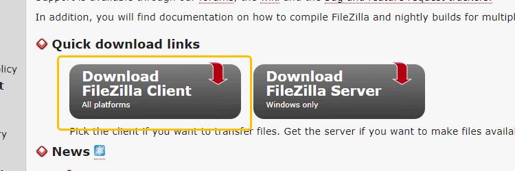 Pobieranie FileZilla