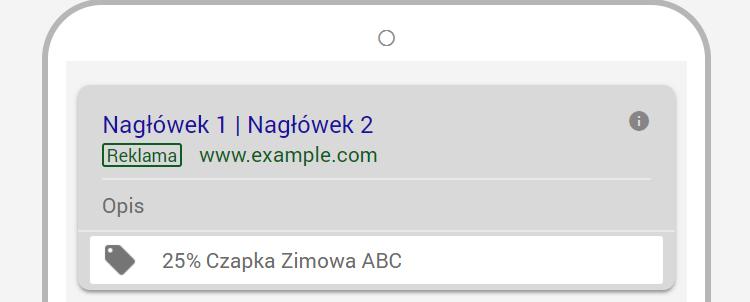 Rozszerzenie promocji Google Ads