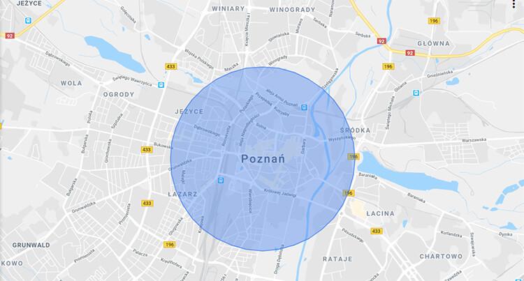 Targetowanie według fizycznej lokalizacji użytkownika